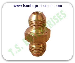 Hydraulic Adaptors Hydraulic Union Hydraulic hose pipe Hex Nipple Hydraulic Hose Pipe Fitting Adaptors manufacturers suppliers in india punjab ludhiana