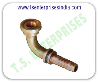 Hydraulic Bends 90 degree Hydraulic Female Bends 45 degree Hydraulic hose pipe fitting Bends manufacturers suppliers in india punjab ludhiana